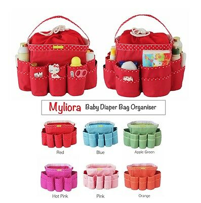 MYLIORA Baby Diaper Caddy Bag Organiser Container Basket Storage Bag, XXL Size