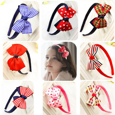 Cute Kids Girls Baby Bowknot Hair band Headband Headwear Hair Accessories