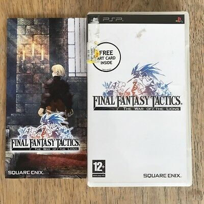 SONY PSP - Final Fantasy Tactics - Case and manual - NO GAME
