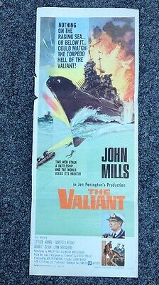 THE VALIANT original 1962 WW2 movie poster JOHN MILLS