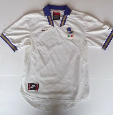 Italy Away Football Shirt 1996 - 1997 Nike Junior Size Small 36/38 Height 173