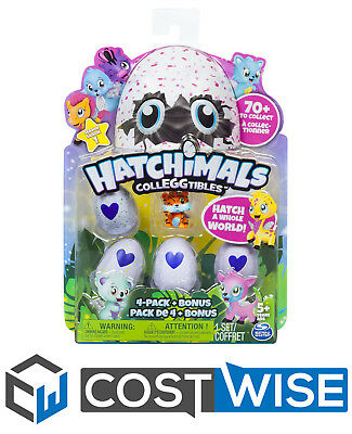 Hatchimals - CollEGGtibles 4-Pack + Bonus Styles and Colours May Vary Toys Gifts