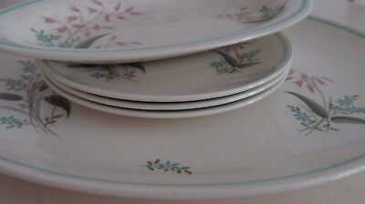 Vintage Serving Plates.Crown Ducal Random Harvest Large Small Oval Plates