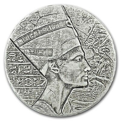 2017 Chad 5 Ounce Egyptian Relic Series - Queen Nefertiti Silver Proof Coin