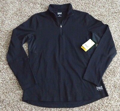 EVERLAST NWT Women's 1/4 Zip Black Athletic Running Pullover Jacket Top Large L