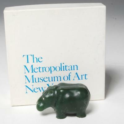 Carved Hippo With Crystal Eyes From Moma