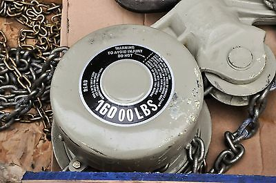NEW! Chester/Zephyr 8 Ton Hand Chain Hoist Hook Mounted 16000 lbs 14 foot lift.