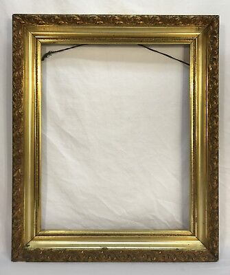 Antique Late 19th C Lemon Gold Gilt & Composition Frame 16 x 20 Opening