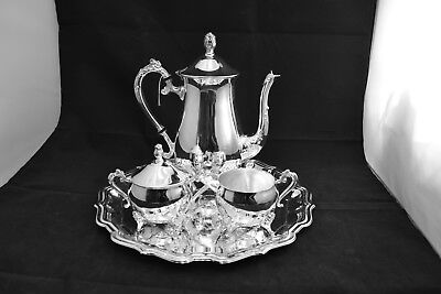 Home Studio 4 Piece Tea Set including Chippendale Tray ##LEIgaa1jw