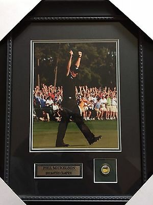 2010 Masters Phil Mickelson Framed Print W/Masters Pin
