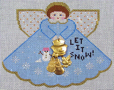 HP Needlepoint 18ct PAINTED PONY Angel: Let It Snow -NH17