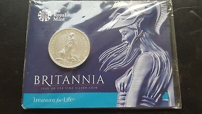 "Royal Mint 2015 solid silver ""Britannia"" £50 coin"