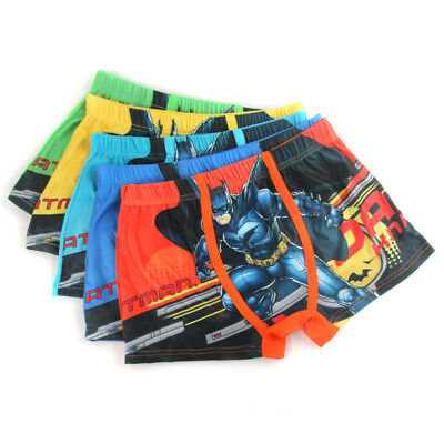 5 PCS Avengers Batman Hero Children Cartoon Boy Cotton Underwear Boxer Shorts