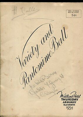 Jackie Brown Flyweight Boxing Champion Hand Signed Programme 1934