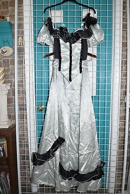 Civil War Ball Gown Sage Green Bodice Skirt Old West Masquerade madness costume