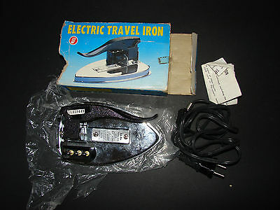 Vintage Electric Travel Iron in Box with Instructions & Lead