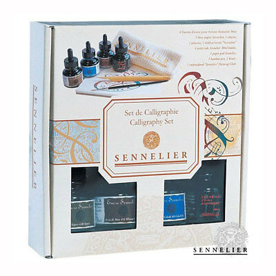 Sennelier Artist Calligraphy Ink Set With Pad/ Pen & Brush