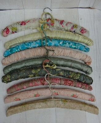 Vintage Quilted Padded Coat Clothes Hangers Retro Haberdashery x 9