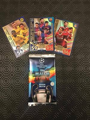 PES 2018 Editions - Topps Match Attax / 3 Card Limited Edition *New & Sealed*