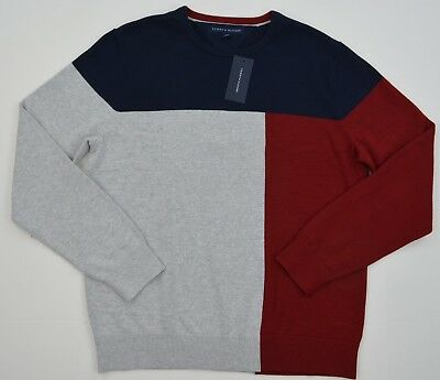 NWT Men's Tommy Hilfiger CrewNeck Pullover Sweater Multi   L XL