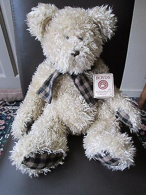 BOYDS BEAR Quincy P McBearsen,Head Bean Collection, with TAG,Very Heavy,Genuine.