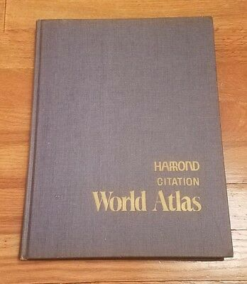 Vintage 1971 Hammond Citation World Atlas Hardback Book