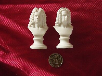 "BUSTS OF ""HANDEL and BACH"" SMALL 2 3/4 INCHES TALL COULD BE BY R&L STAMP MARK"