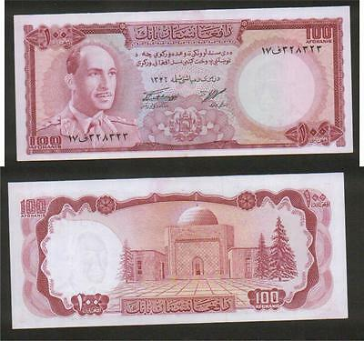 AFGHANISTAN BANKNOTE 100 Afg.ZAHIR SHAH PK # 44 IN  UNC  CONDITION .1346 year