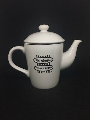 Tim Hortons Pot Pouring Coffee Tea White Collectible