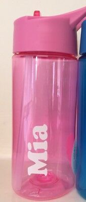 PERSONALISED KIDS WATER BOTTLE PINK 400ml