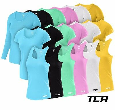 TCA Women's Air Workout Breathable Long or Short Sleeve Running Shirts & Vests