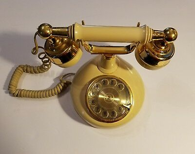 Vintage Western Electric Bell Telephone French  Style Rotary Phone Ivory/Cream