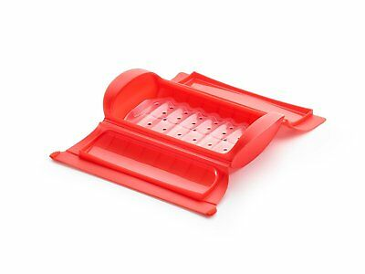Lekue 650 ml Regular Steam Case with Cooking Tray, Red