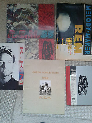 Rem - Monster & Green World Tour Programmes,monster Cd Book & Melody Maker '89