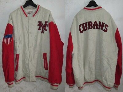 Rare Giacca Jacket Jersey Coat Bomber Baseball New York Cubans Mlb  Size 5Xl