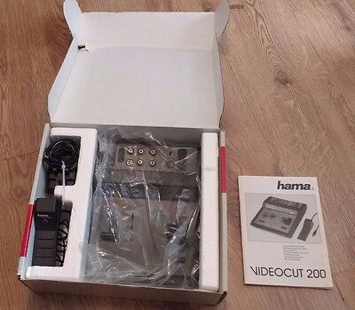 Hama Video Cut 200 Mixer Video Cutter VHS Vintage Made in Germany - UNUSED BOXED