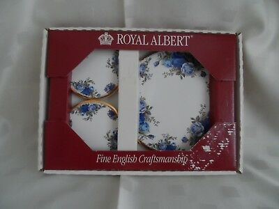 Royal Albet, Moonlight Rose Ceramic Tile Teapot Stand with Four Coasters.