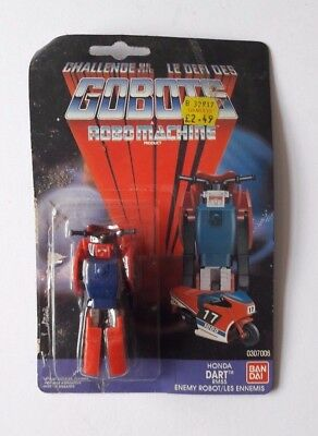 Gobots Robo Machine Rm55 Honda Dart Robot Toy With Packaging Backing Card