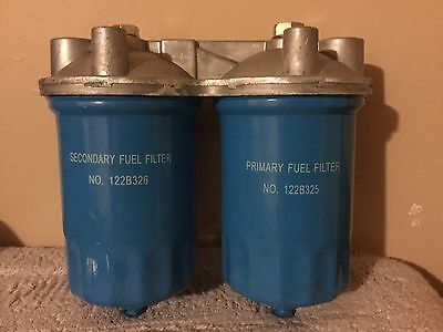 Brand New PRIMARY FUEL FILTER 122B325 And SECONDARY FUEL FILTER 122B326