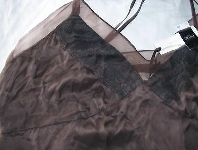 Next Collection Luxe Silk Slip taupe brown petticoat Size 16 brand new tags BNWT
