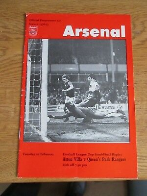 Aston Villa v QPR - League Cup semi-final Replay at Arsenal - 1976/77