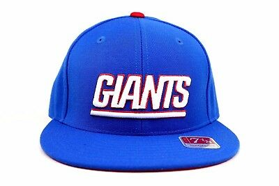 half off ea3e4 5c9f6 New York Giants Royal Blue Scarlet Red White NFL Mitchell   Ness Fitted Hat  Cap