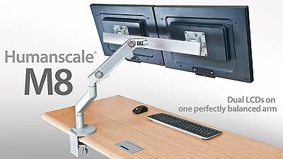 Brand New Humanscale M8 Crossbar with Desk Clamp Reduced Save £153 34%Off