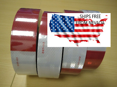 3 Foot Continuous Roll Dot C2 Conspicuity Tape Reflective Red White