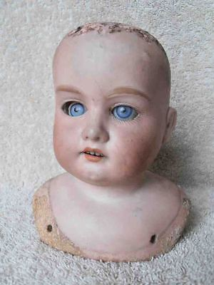 Antique Armand & Marseille Bisque Doll Head 370 A Very Dirty Girl