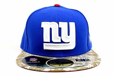 New York Giants Royal Blue Salute To Service NFL New Era 59Fifty Fitted Hat Cap