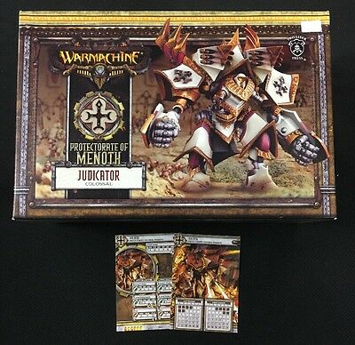 Warmachine Menoth Judicator Colossal PIP 32050 with New Cards