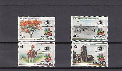 a133 - ST KITTS - SG295-298 MNH 1989 WORLD STAMP EXPO 89 EXHIBITION