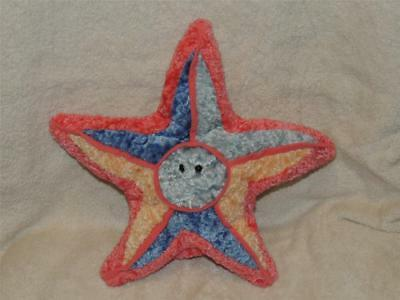 Dream Puppets Plush COLORFUL STARFISH Hand Puppet Excellent