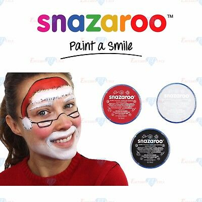 Snazaroo Halloween Zombie Black Red White Paint Face & Body Make Up Fancy Dress